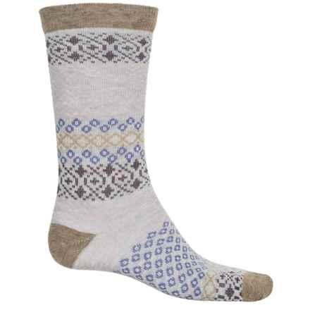 Woolrich Aztec Socks - Merino Wool, Crew (For Women) in Khaki/Winter White - Closeouts