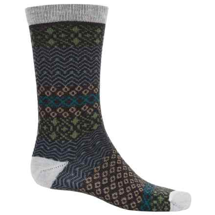Woolrich Aztec Socks - Merino Wool, Crew (For Women) in Winter White/Charcoal - Closeouts