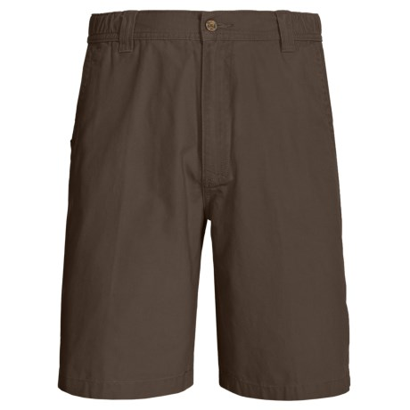 Woolrich Backpacker Peached Canvas Shorts (For Men) in Slate
