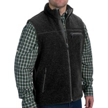 Woolrich Baraboo Vest - Berber Fleece (For Men) in Black - Closeouts