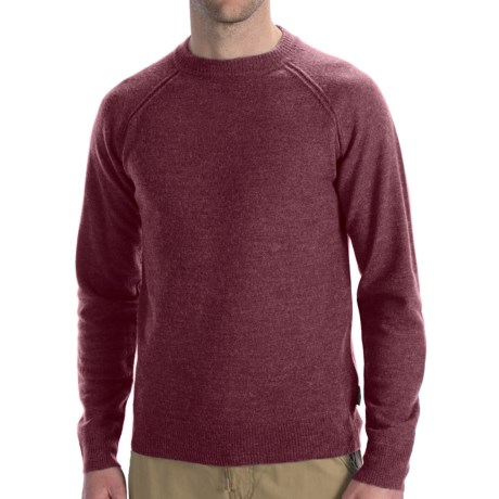 Woolrich Barnstormer Sweater - Merino Wool (For Men) in Deep Ruby Heather
