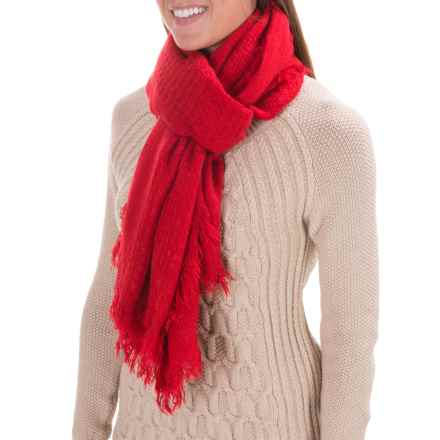Woolrich Basket Weave Wrap (For Women) in Old Red - Closeouts