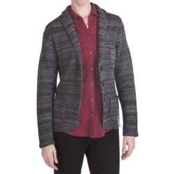 Woolrich Basswood Blazer - Boiled Lambswool (For Women) in Charcoal Heather