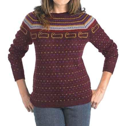 Woolrich Bateau Fair Isle Sweater (For Women) in Burgundy - Closeouts