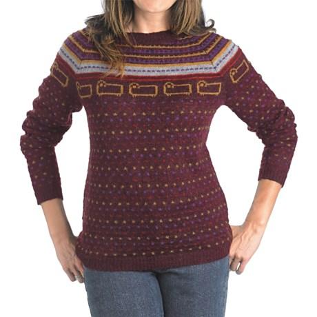 Woolrich Bateau Fair Isle Sweater (For Women) in Burgundy