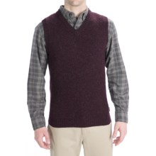Woolrich Beacon Sweater Vest - Shetland Wool (For Men) in Dark Mulberry - Closeouts