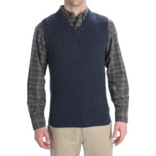 Woolrich Beacon Sweater Vest - Shetland Wool (For Men) in Deep Indigo - Closeouts