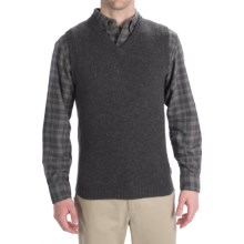 Woolrich Beacon Sweater Vest - Shetland Wool (For Men) in Onyx - Closeouts