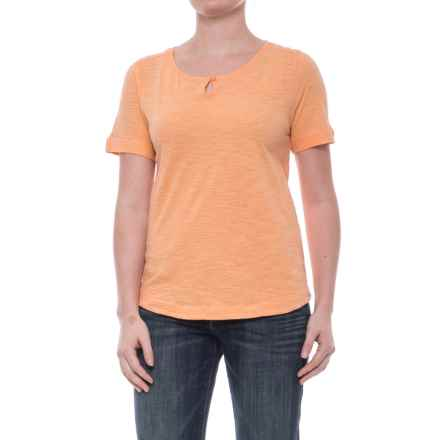 Woolrich Bell Canyon Shirt - Organic Cotton, Short Sleeve (For Women) in Apricot Wash - Closeouts