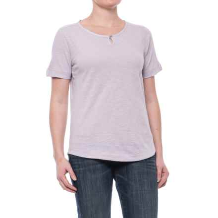 Woolrich Bell Canyon Shirt - Organic Cotton, Short Sleeve (For Women) in Misty Lilac - Closeouts