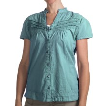 Woolrich Belle Springs Shirt - Short Sleeve (For Women) in Sea Foam - Closeouts