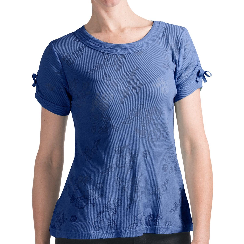 Woolrich Bellevue Burnout Cotton T Shirt Short Tie