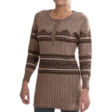 Woolrich Bellgrove Sweater Dress - Lambswool, Merino Wool, Long Sleeve (For Petite Women) in Dark Roast Heather - Closeouts