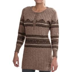Woolrich Bellgrove Sweater Dress - Lambswool, Merino Wool, Long Sleeve (For Petite Women) in Dark Roast Heather