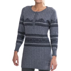 Woolrich Bellgrove Sweater Dress - Lambswool, Merino Wool, Long Sleeve (For Petite Women) in Dark Roast Heather