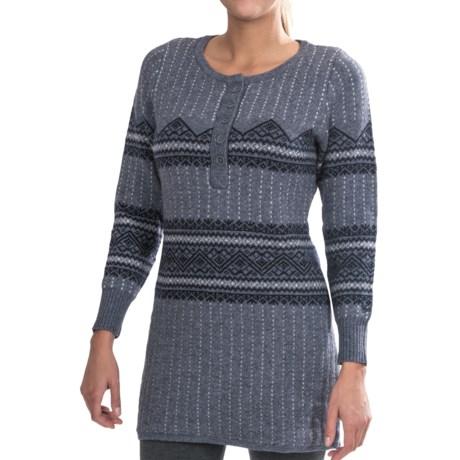 Woolrich Bellgrove Sweater Dress - Lambswool, Merino Wool, Long Sleeve (For Petite Women) in Charcoal Heather