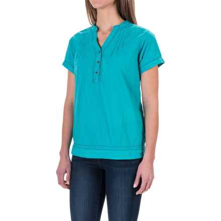 Woolrich Bells Mills Tunic Shirt - Short Sleeve (For Women) in Parrot - Closeouts