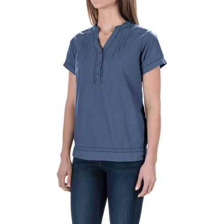 Woolrich Bells Mills Tunic Shirt - Short Sleeve (For Women) in Summit - Closeouts