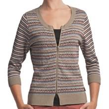 Woolrich Bergen Peak Cardigan - Elbow Sleeve (For Women) in Dark Khaki - Closeouts