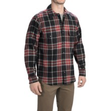 Woolrich Bering Plaid Wool Shirt - Long Sleeve (For Men) in Black - Closeouts