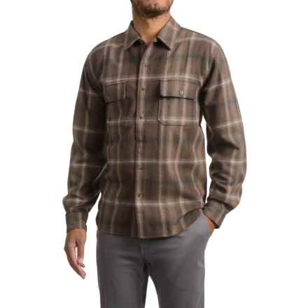Woolrich Bering Plaid Wool Shirt - Long Sleeve (For Men) in Cabin - Closeouts