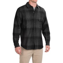 Woolrich Bering Plaid Wool Shirt - Long Sleeve (For Men) in Charcoal - Closeouts