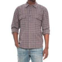 Woolrich Bering Plaid Wool Shirt - Long Sleeve (For Men) in Gray Heather - Closeouts