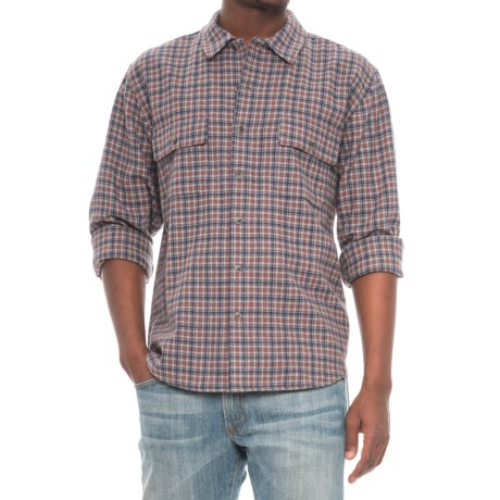 Woolrich Bering Plaid Wool Shirt - Long Sleeve (For Men) in Gray Heather