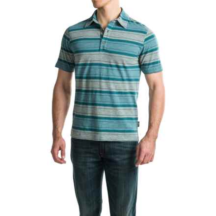 Woolrich Between the Lines II Polo Shirt - Short Sleeve (For Men) in Nordic Blue - Closeouts
