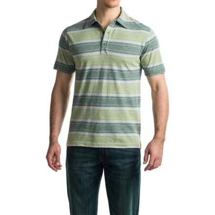 Woolrich Between the Lines II Polo Shirt - Short Sleeve (For Men) in Utility Green - Closeouts