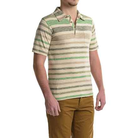 Woolrich Between the Lines Polo Shirt - Short Sleeve (For Men) in Pine Needle - Closeouts