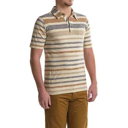 Woolrich Between the Lines Polo Shirt - Short Sleeve (For Men) in Steel Blue - Closeouts