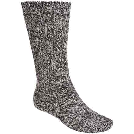 Woolrich Big Woolly Ragg Solid Socks - Merino Wool, Heavyweight, Crew (For Men) in Charcoal - Closeouts