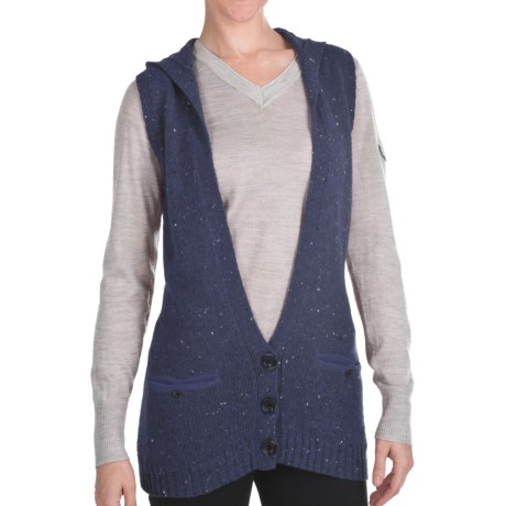 Woolrich Birch Song Hooded Vest (For Women) in Stone