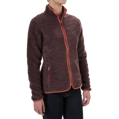 Woolrich Black Baraboo II Fleece Jacket (For Women) in Dark Plum Heather
