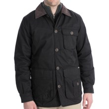 Woolrich Blacktail Coat - Waxed Twill (For Men) in Black - Closeouts