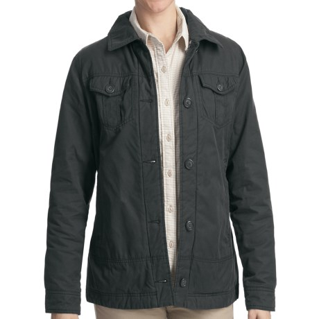 Woolrich Blacktail Jacket - Peached Twill (For Women) in Dark Shale