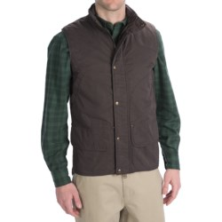 Woolrich Blacktail Vest - Waxed Twill (For Men) in Dark Shale
