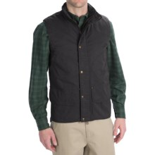 Woolrich Blacktail Vest - Waxed Twill (For Men) in Black - Closeouts