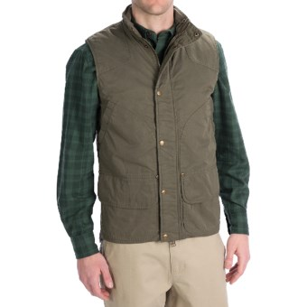 Woolrich Blacktail Vest - Waxed Twill (For Men) in Dark Shale