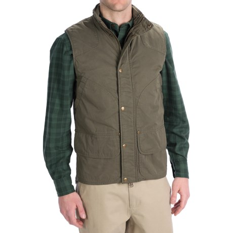 Woolrich Blacktail Vest - Waxed Twill (For Men) in Bark