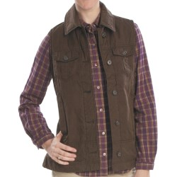 Woolrich Blacktail Vest - Waxed Twill, Insulated (For Women) in Dark Shale