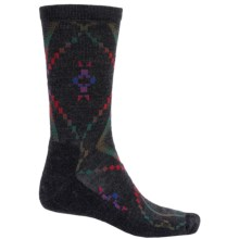 Woolrich Blanket-Pattern Dress Socks - Merino Wool Blend, Crew (For Men) in Charcoal - Closeouts