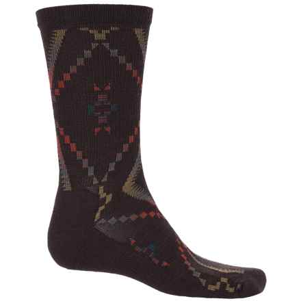 Woolrich Blanket-Pattern Dress Socks - Merino Wool Blend, Crew (For Men) in Java - Closeouts