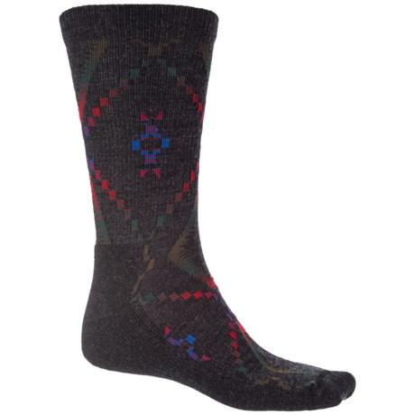 Woolrich Blanket-Pattern Dress Socks - Merino Wool Blend, Crew (For Men) in Jet