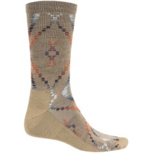 Woolrich Blanket-Pattern Dress Socks - Merino Wool Blend, Crew (For Men) in Khaki - Closeouts