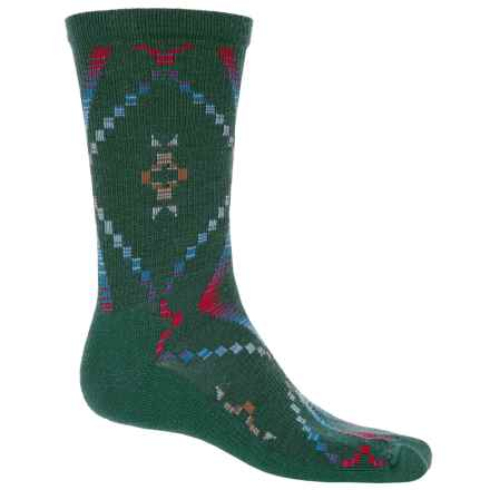 Woolrich Blanket-Pattern Dress Socks - Merino Wool Blend, Crew (For Men) in Pine Grove - Closeouts