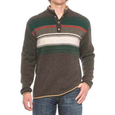 Woolrich Blanket Sweater - Lambswool, Snap Neck (For Men) in Dark Loden - Closeouts