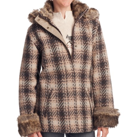 Woolrich Bluff Park Jacket - Wool (For Women) in Brown