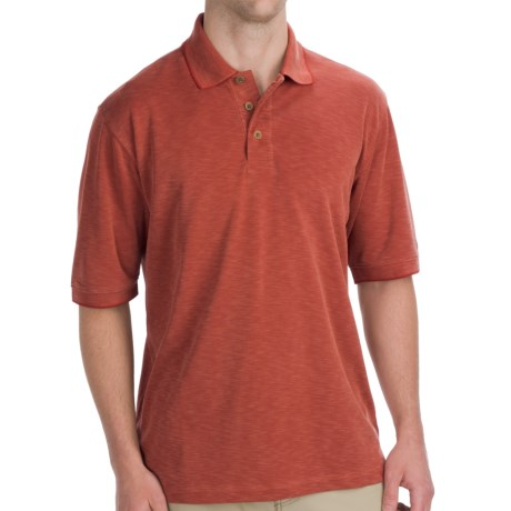 Woolrich Boundary Polo Shirt - UPF 30+, Short Sleeve (For Men) in Tomatoe